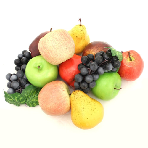 Aleko 12 Piece Decorative Artificial Fruit Set Walmart Com