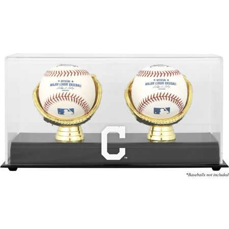 (Cleveland Indians Fanatics Authentic Gold Glove Double Baseball Logo Display Case - No Size)