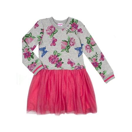 Nannette Long Sleeve Floral Sweatshirt & Tutu Dress (Toddler Girls)](Tutu Dress Adults)