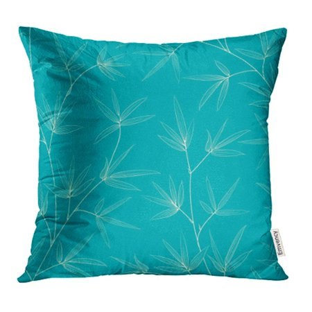 EREHome Green Zen Bamboo Leaves Design Forest Leaf Japan Summer Growth Asia Abstract Pillow Case Pillow Cover 20x20 inch Throw Pillow Covers - image 1 de 1