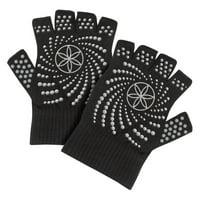 Gaiam Super Grippy Yoga Gloves - Set of 2 - Black/Grey