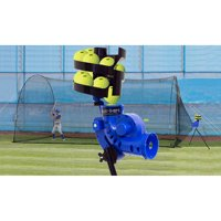 HEATER SPORTS Sandlot Pitching Machine, Batting Cage, and Ballfeeder Combination Package