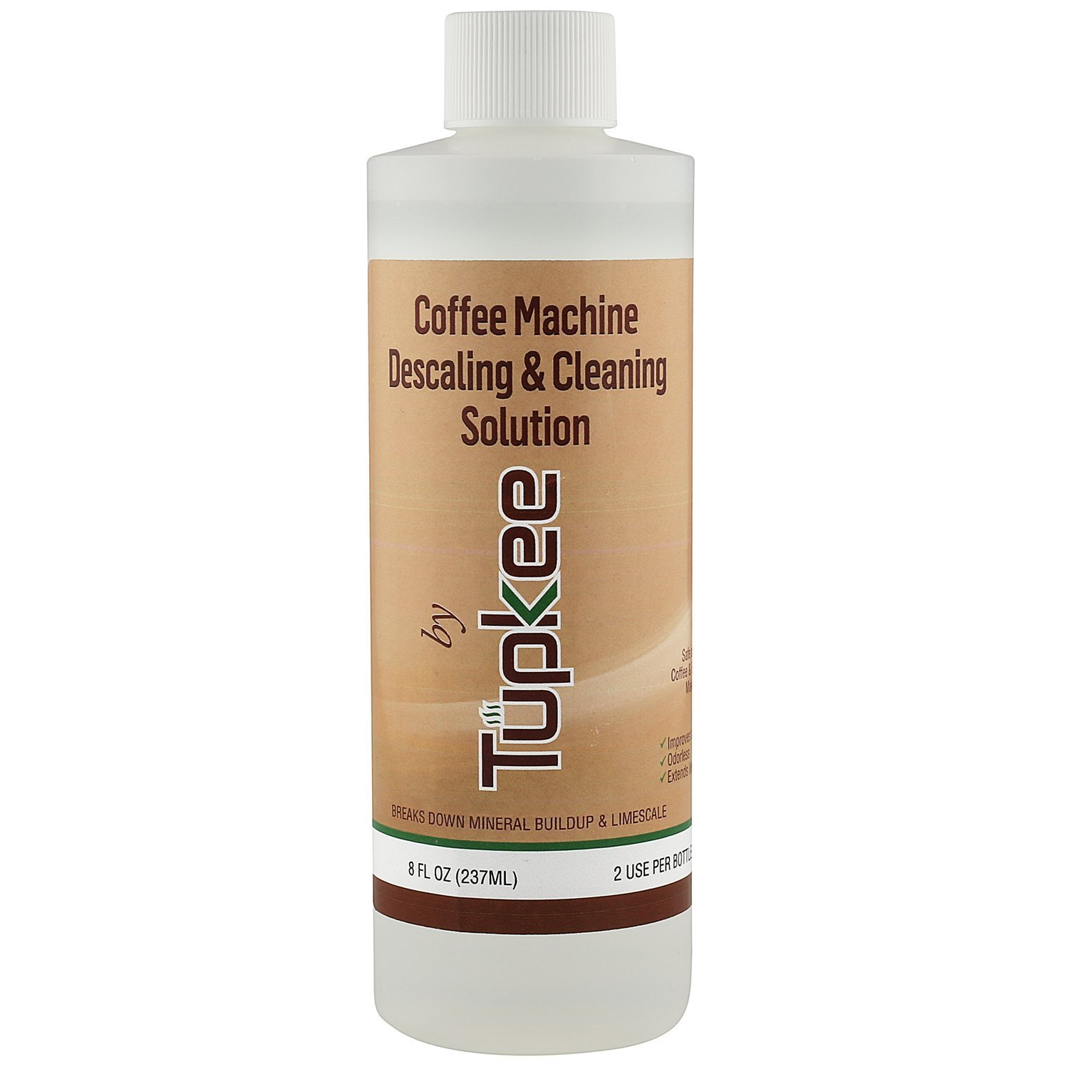 Tupkee Coffee Machine Descaler – Universal, For Drip Coffee Maker, Espresso and Keurig Coffee Machines Descaling & Cleaning Solution, Breaks Down Mineral Buildup and Limescale