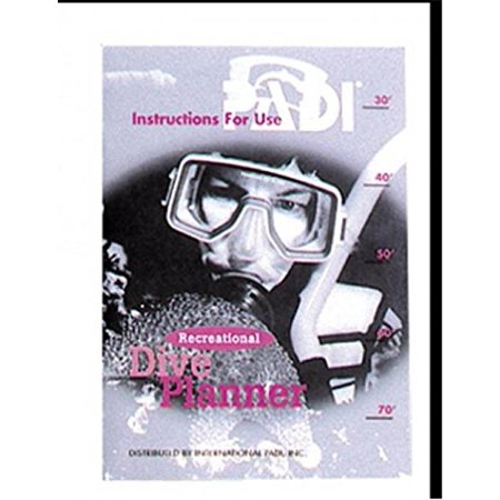 Recreational Dive Planner Instructions, By Padi
