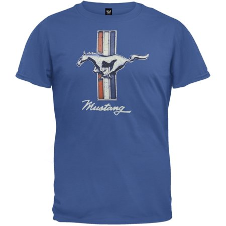 ford vintage mustang logo soft t shirt