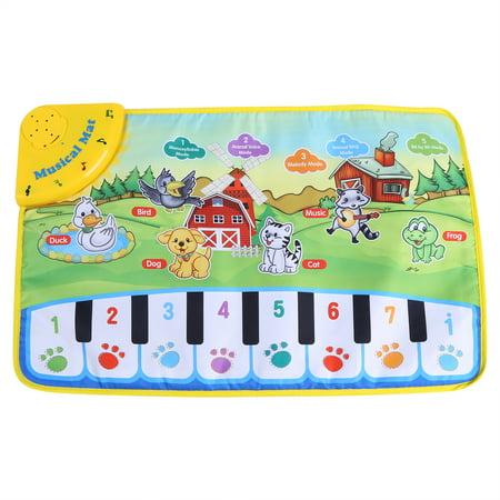 WALFRONT Baby Music Mat Children Crawling Piano Carpet Educational Musical Toy Kids Gift - image 4 of 9