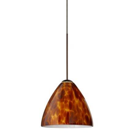 Besa Lighting 1XT-177918 Mia 1 Light Halogen Cord-Hung Mini Pendant with Amber Cloud Glass Shade