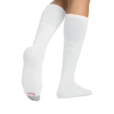 Hanes Men's Cushion FreshIQ Over the Calf Tube Socks 12-Pack