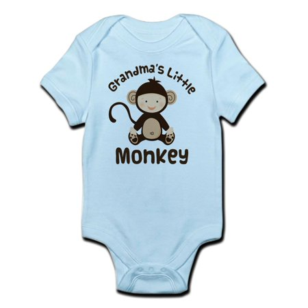 CafePress - Grandma Grandchild Monkey Infant Bodysuit - Baby Light Bodysuit