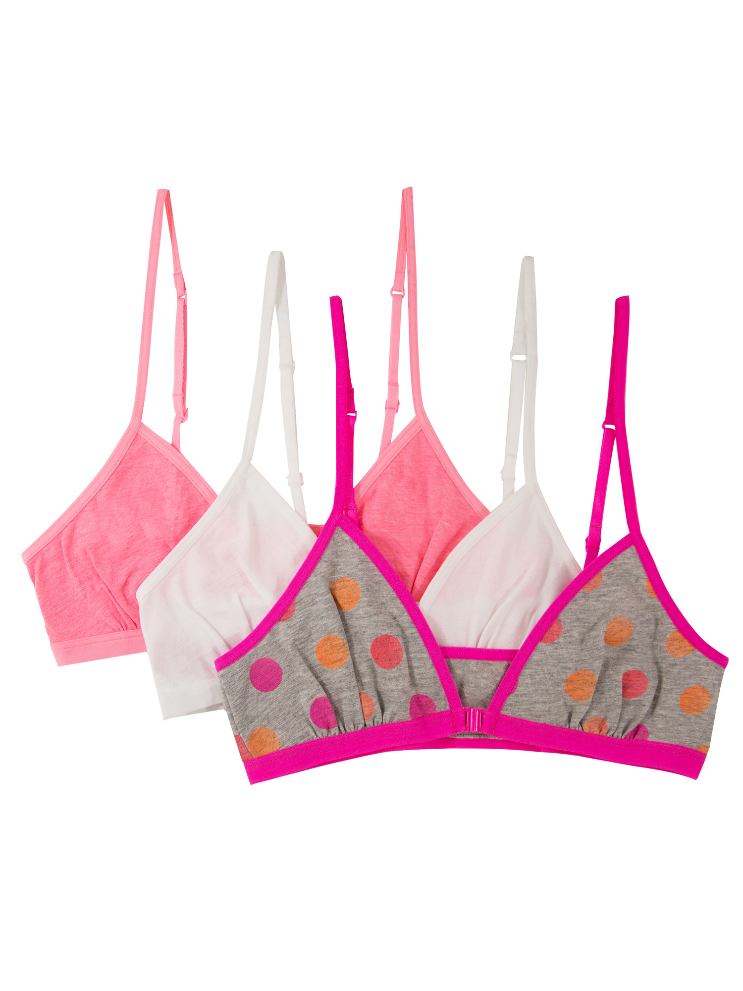 Girls Amazing Convertible Bralettes, FT097, 3 Pack
