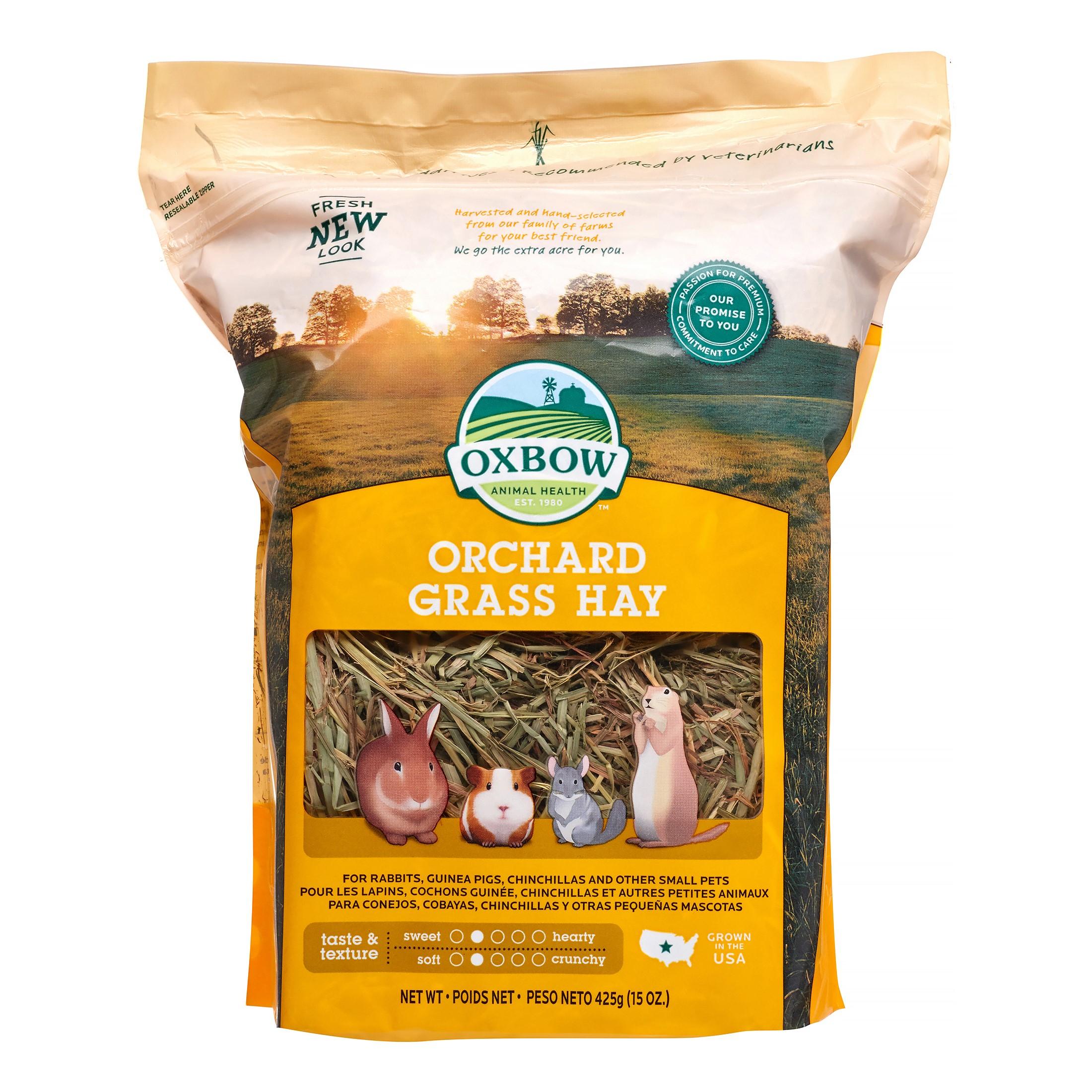 Oxbow Orchard Grass Dry Small Animal Food, 15 Oz