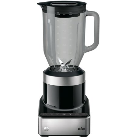 Braun PureMix Countertop Power Blender with 56 oz. Thermal-Resistant Glass Blending Pitcher in Black