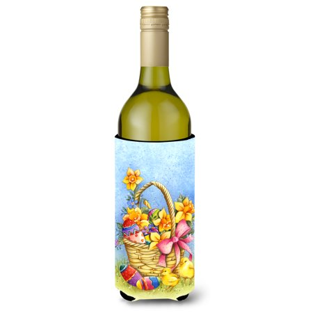 - Easter Basket with Flowers Wine Bottle Beverge Insulator Hugger APH4709LITERK