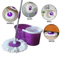Ktaxon 360Deluxe Spin Magic Mop & Bucket Household Cleaning Supplies Purple