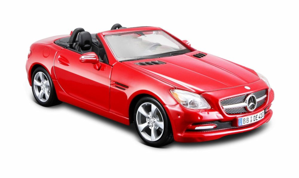 2011 Mercedes-Benz SLK Convertible, Red Maisto 31206R 1 24 Scale Diecast Model Toy Car by Maisto