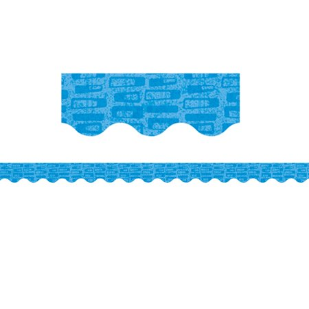 Midcentury Mod Blue Blocks Border - image 1 of 1