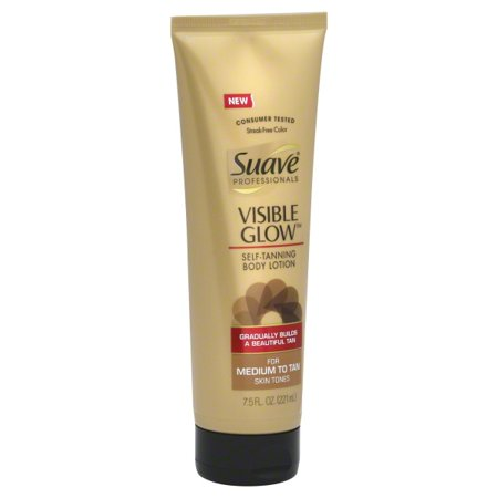 Suave Professional Visible Glow Self-Tanning Body Lotion Skin Moisturizer