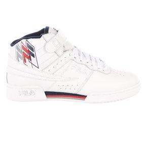 Fila Mens Vulc 13 Mid Plus Hi Top Sneakers w Velcro Closure 1SC60526 150 White