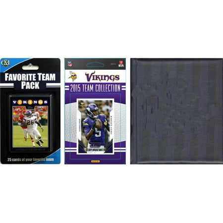 CandICollectables 2015VIKINGSTSC NFL Minnesota Vikings Licensed 2015 Score Team Set & Favorite Player Trading Card Pack Plus Storage Album - image 1 of 1