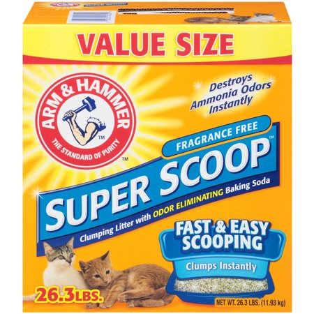 Arm   Hammer Super Scoop Fragrance Free Clumping Cat Litter 26 3 Lb  Box
