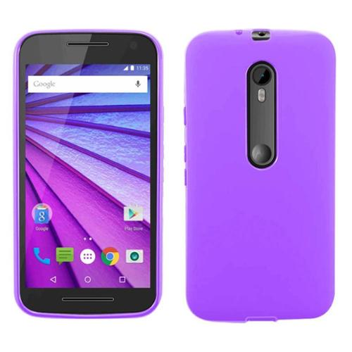 Insten Rubber Case For Motorola Moto G (3rd Gen) - Purple