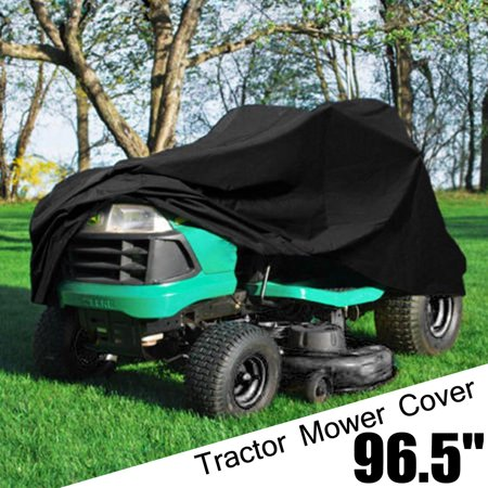 Image of HALLOLURE 55'' Lawn Mower Cover Waterproof Tractor Cover Dust-proof Oxford Riding Mower Cover Heavy Duty Mildew Resistant UV Protection , Water, UV and Mildew Resistant
