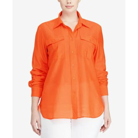 294c39d3 Lauren Ralph Lauren - Lauren Ralph Lauren Plus Size Button-Down Shirt -  Walmart.com