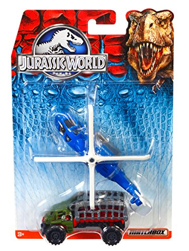 Matchbox Jurassic World Land and Air Vehicle Collection 2-Pack (Styles May Vary) by