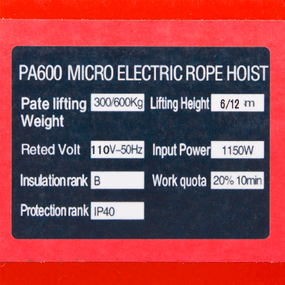 Pa600 Electric Hoist Wiring Diagram Diagrams 110 Power Cord Zimtown 1320lbs Cable Lift Crane Rh Walmart Com Chain Control Budgit