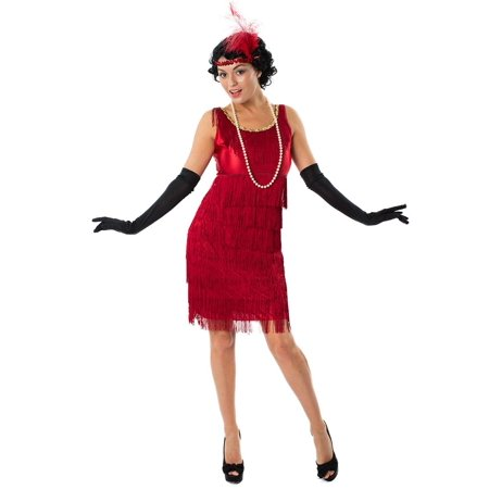 Red Flapper Dresses (1920s Red Flapper Women's Costume)