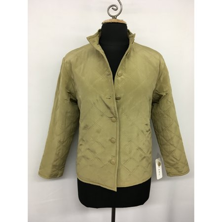 100% SILK DIAMOND QUILTED JACKET (Style# 18465) (Hand Painted Silk Jackets)