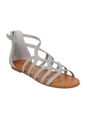 e0998733c64e Product Image New Women Breckelles Sara-21 Nubuck Open Toe Gladiator Flat  Sandal