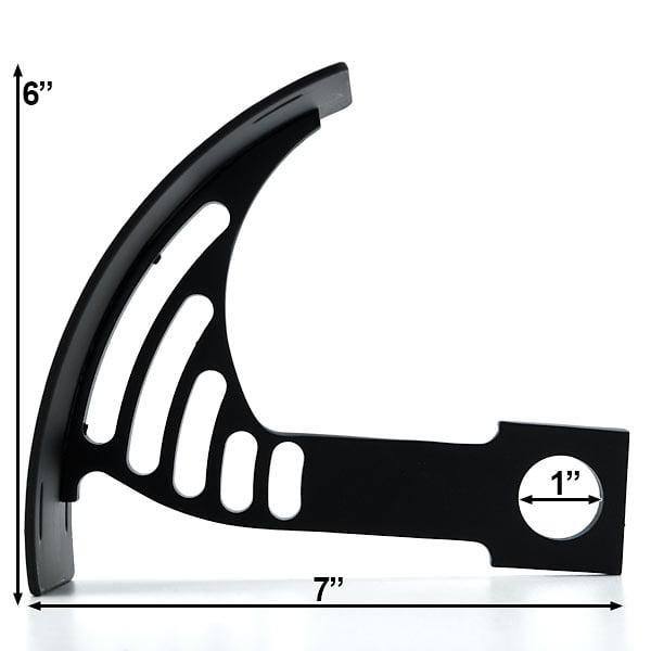 Black Vertical Axle Mount Motorcycle Plate Holder For Suzuki Savage LS 650 - image 2 de 5