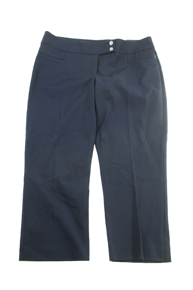 Alfani Navy Straight-Leg Capri Pants