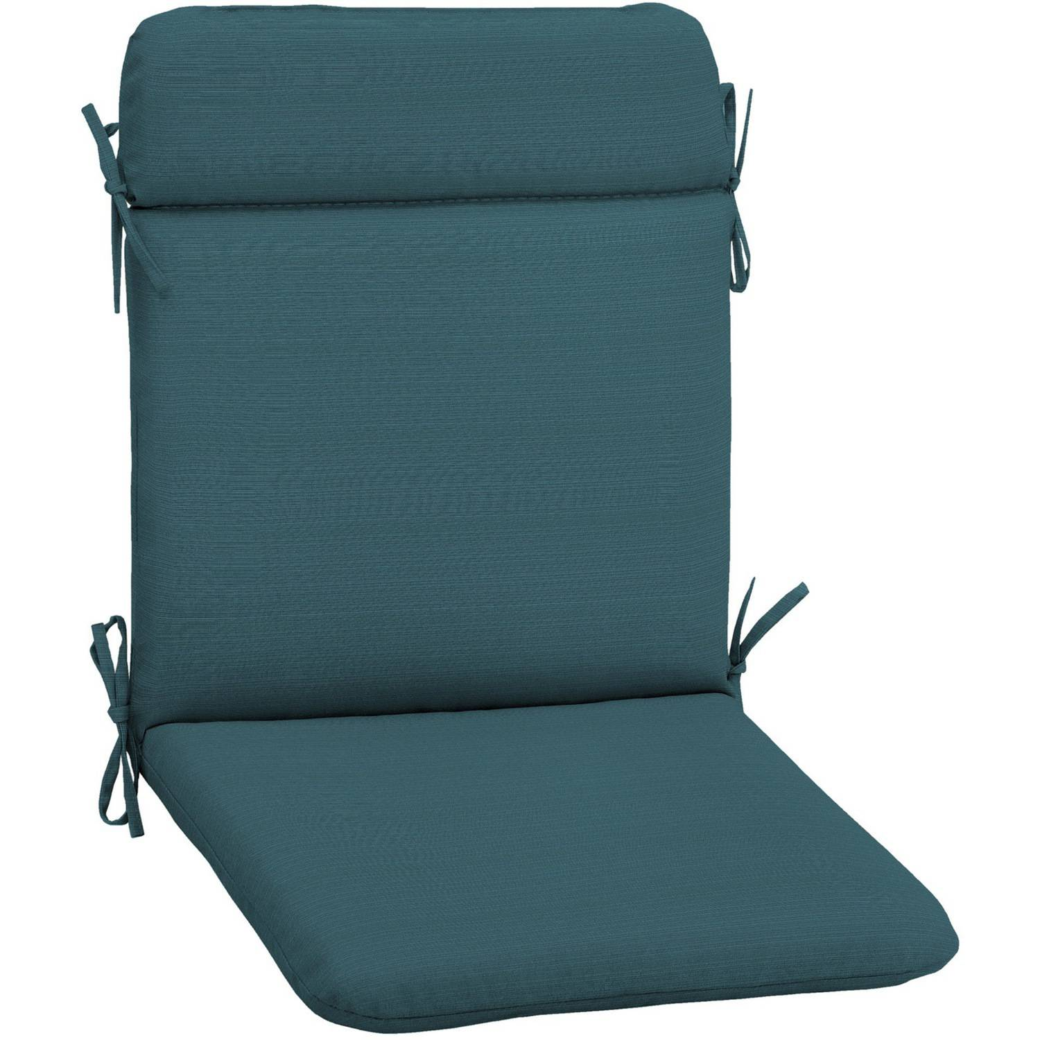 dining chair pads. mainstays outdoor patio reversible dining chair cushion, turquoise stripe - walmart.com pads r