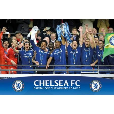 Chelsea   Capital One Winners Trophy Poster   36X24