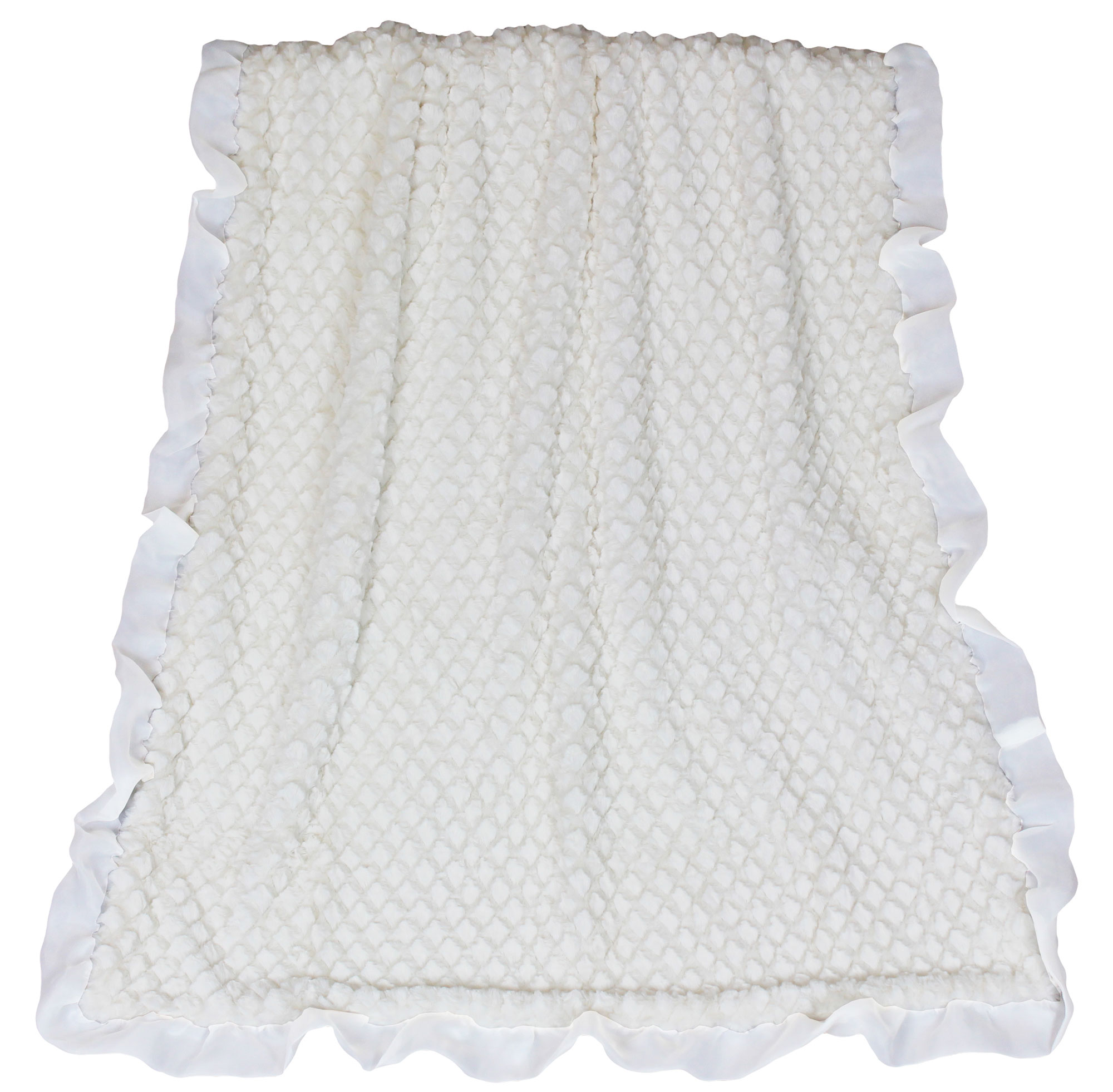 The Peanut Shell Baby Blanket - White Diamond Sherpa - Juliet Baby Blanket