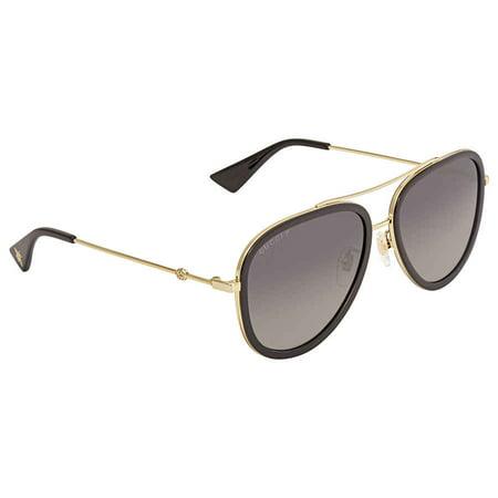 Gucci Polarized Grey Gradient Aviator Sunglasses GG0062S 011 57