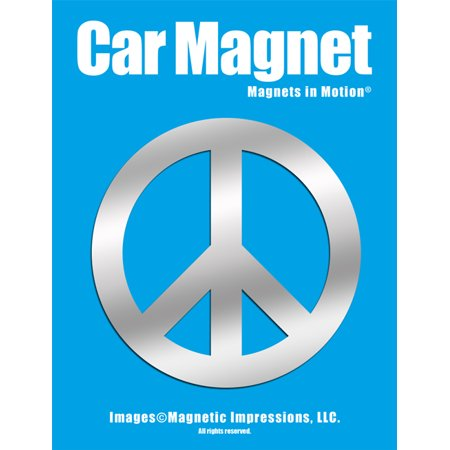 Peace Sign Car Magnet Chrome (Car Magnets Cheap)