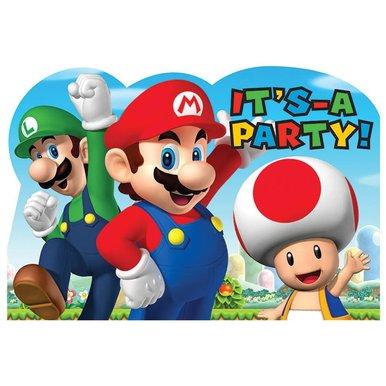 Super Mario Brothers Postcard Invitations [8 Per Pack] - image 1 de 1