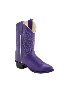Children's Old West All Over Round Toe Cowboy Boot