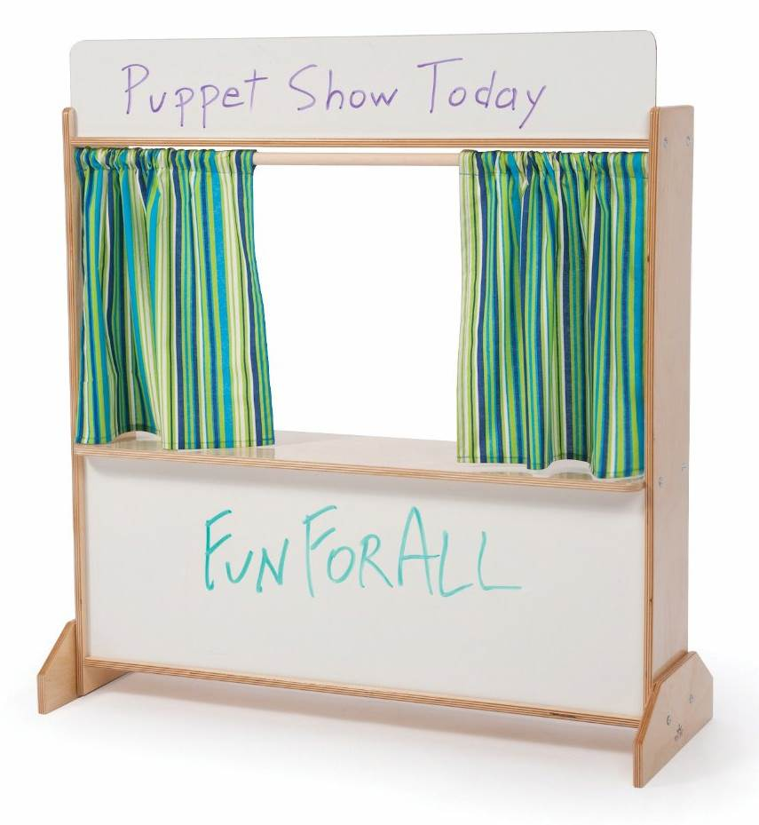 Deluxe Puppet Theater in Natural Finish