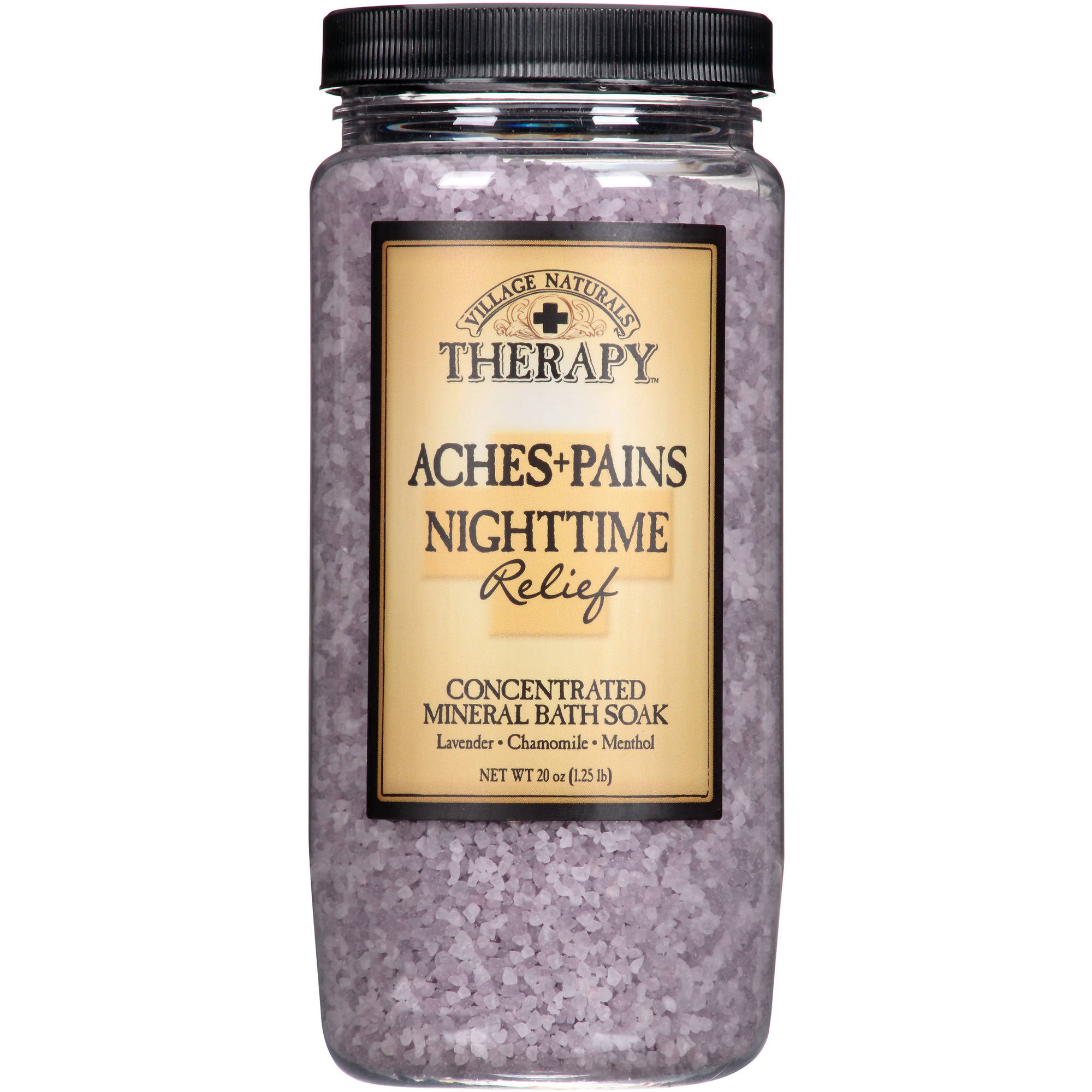 Village Naturals Therapy Aches & Pains Nighttime Relief Concentrated Mineral Bath Soak, 20 fl oz