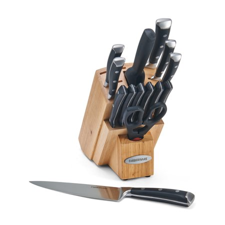 Farberware 15-Piece Forged Stainless Steel Knife Block