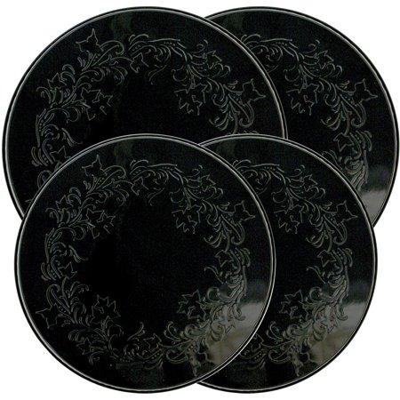 Black Self Cleaning Range - Range Kleen 4-Piece Burner Kover Set, Round, Decorative