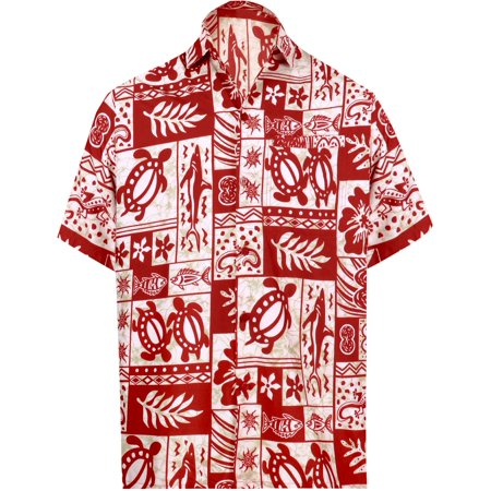 e7a09d1b Hawaiian Shirt Mens Beach Aloha Camp Party Casual Holiday Tropical Shirt  Palm Tree Print M