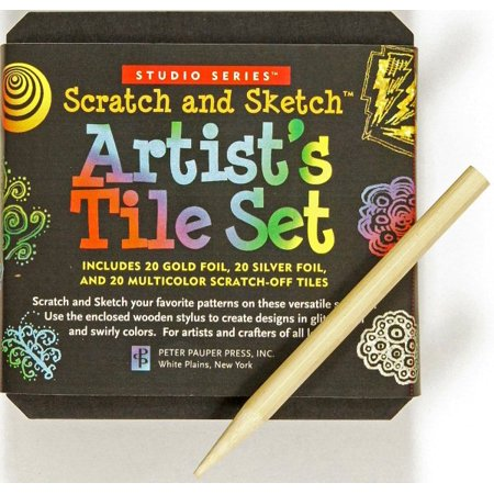 Studio Series Artist's Tiles Scratch & - Scratch Paper Art