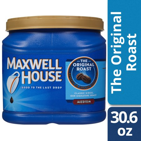 (2 Pack) Maxwell House Original Blend Ground Coffee, Medium Roast, 30.6 Ounce Canister
