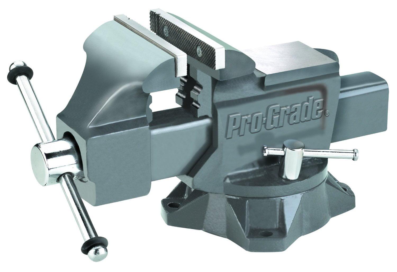 "6"" Pro-Grade 59115 Heavy Duty Swivel Bench Vise Woodworking Machine Repair Tool by Pro-Grade"