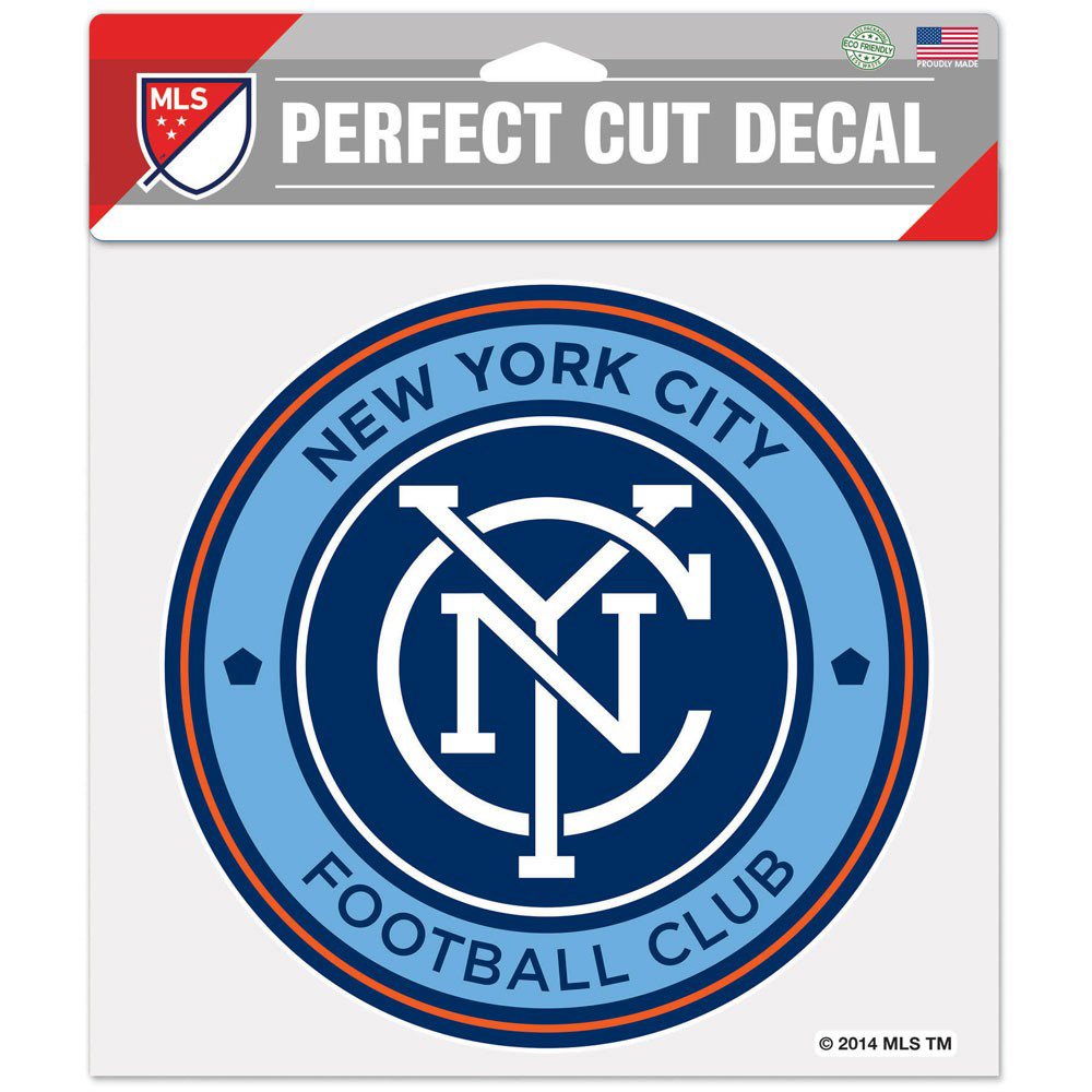 "New York City FC WinCraft 8"" x 8"" Perfect Cut Decal - No Size"